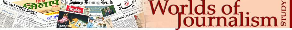 Worlds of Journalism decorative header