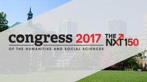 The logo for Congress of the Humanities and Social Sciences 2017 at Ryerson University